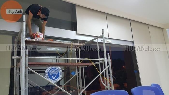 Lắp đặt rèm chống nắng – Rèm cửa cuốn ở Nguyễn sơn – Long biên