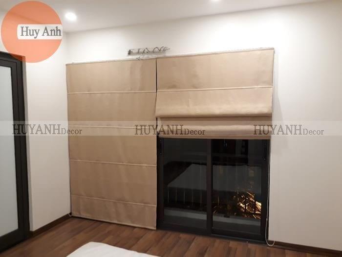Thi công rèm gỗ cửa sổ và rèm roman ở Long biên