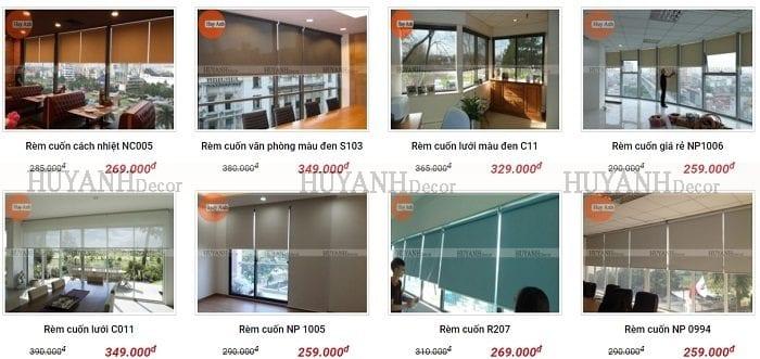 Làm rèm cuốn cửa sổ bằng nhựa tác dụng che nắng 100%