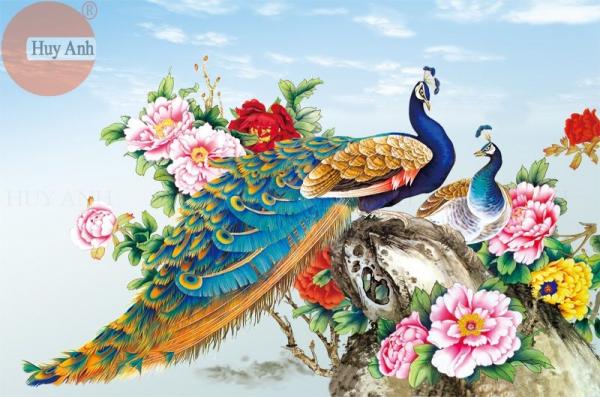tranh rong cong phuong 3d