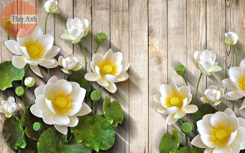Rèm cuốn tranh hoa HA10