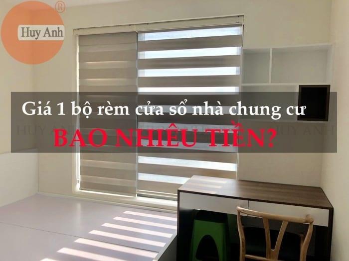 Giá 1 bộ rèm cửa sổ căn hộ chung cư cao cấp đẹp bao nhiêu tiền?