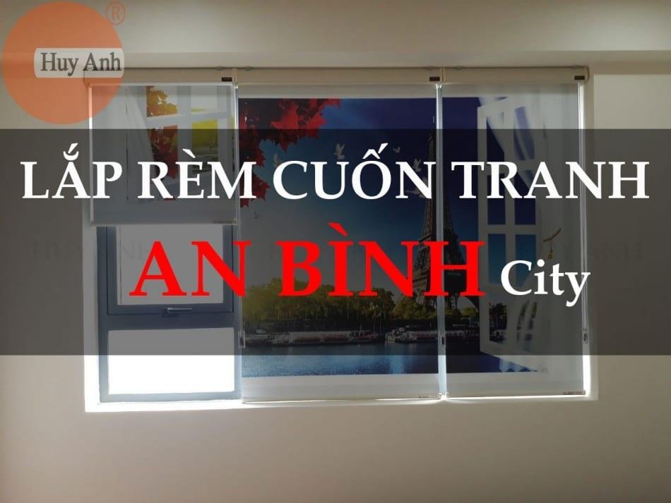 Hình ảnh Rèm cửa cuốn in tranh 3d lắp ở chung cư An Bình City
