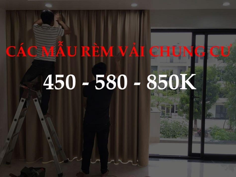 Rèm vải cửa sổ ĐẸP che nắng: Giá 450 – 580 – 850k Full Option