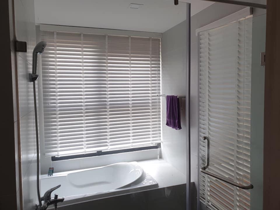 Rèm treo phòng tắm (rèm nhựa pvc giả gỗ)