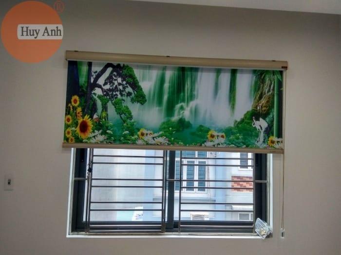 Rèm cửa sổ cuốn in tranh
