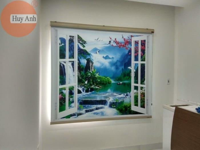 Rèm cuốn cửa sổ in tranh đẹp
