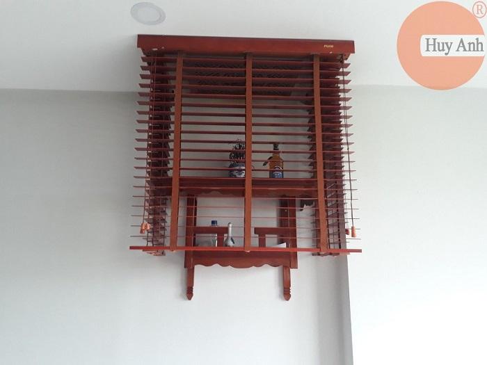 Lắp rèm gỗ che bàn thờ căn hộ chung cư Xuân mai, Yên nghĩa